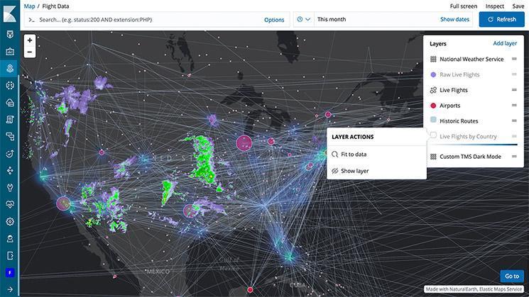 Elastic maps UI