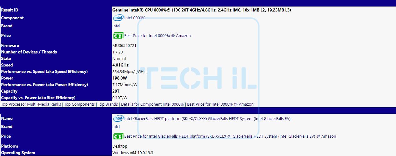 Intel Cascade Lake HEDT leak