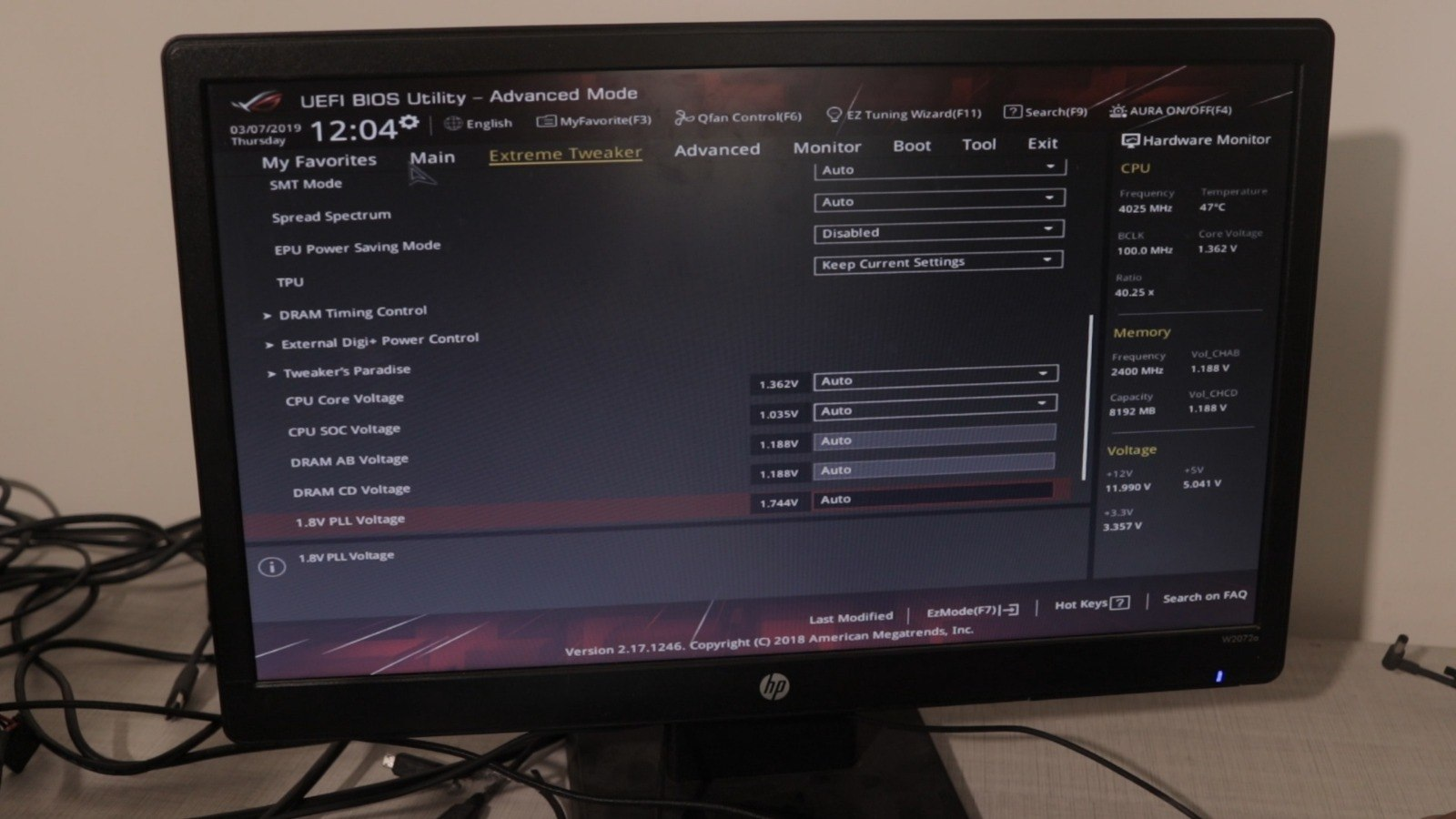 Asus ROG Zenith Extreme Alpha bios